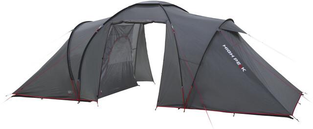 High Peak Como 6 Tent Dark Grå/Röd